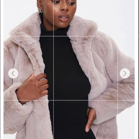 Forever21 plush faux fur coat
